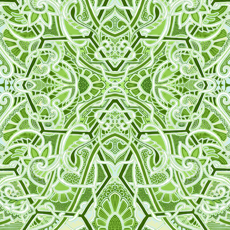 Cool as a  Cucumber fabric by edsel2084 on Spoonflower - custom fabric