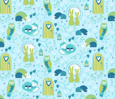sleepy time pastel 2 fabric by cjldesigns on Spoonflower - custom fabric
