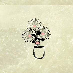 Stonewash-bouqet in vase
