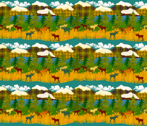 In The North Woods fabric by bags29 on Spoonflower - custom fabric