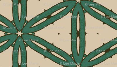Mottled Green Hexagons