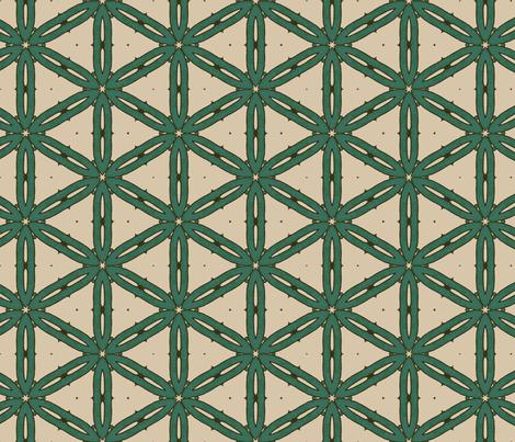 Mottled Green Hexagons fabric by jabiroo on Spoonflower - custom fabric