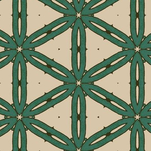 Mottled Green Hexagons