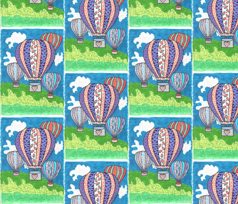 030414_Moms_Balloons fabric by charlenemcd on Spoonflower - custom fabric