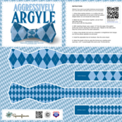 DIY Bow Tie - Argyle - Blues