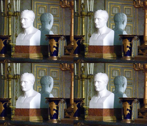 Bust of Napoleon in his study at the Château de Compiègne fabric by susaninparis on Spoonflower - custom fabric