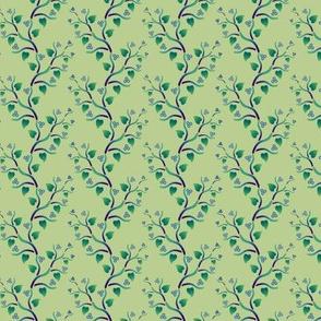 Blue-green vines