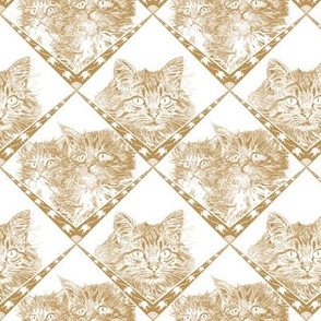 Mama_and_Kittens - Beige/Gold - Ba9549