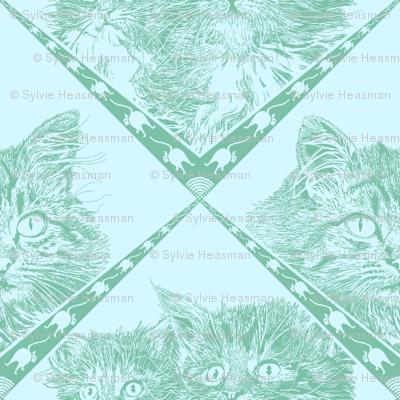 Mama_and_Kittens__7ec1a9_Dark_Aqua_and__d5f7ff_background_