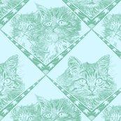 Cat_and_kittens__7ec1a9_dark_aqua_and__d5f7ff_background__shop_thumb