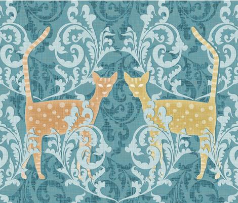 Jaquard Cat fabric by spellstone on Spoonflower - custom fabric