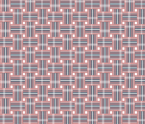 Vintage Lawn Chair Webbing in Navy and Pink fabric by septemberhouse on Spoonflower - custom fabric