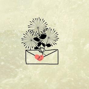 bouqet love letter-Monogram seal
