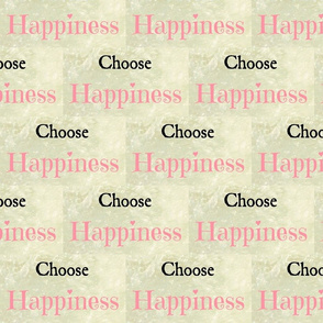 Choose Happiness small  Solo -Pink
