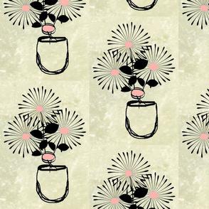 Stonewash-bouqet in vase-med