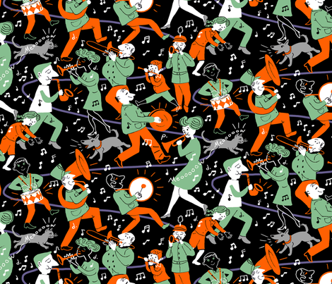 Mid Century Band Larger fabric by vinpauld on Spoonflower - custom fabric