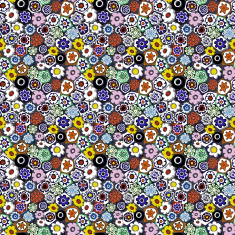 Millefiori fabric by vannina on Spoonflower - custom fabric