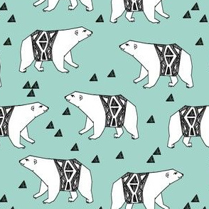 polar bear // arctic polar bear bear design andrea lauren nursery print andrea lauren design