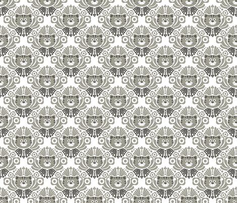 Tabby Prince Damask fabric by run_quiltgirl_run on Spoonflower - custom fabric