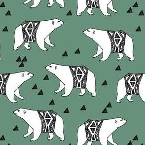 polar bear // arctic bear winter animal bears fabric nursery
