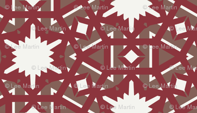 Spartkling White Stars on Red