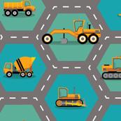 Construction: Roading Machinery Hexagonal - X Large