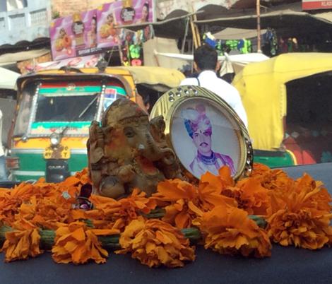 God and Guru on the Dashboard in Rajastan fabric by susaninparis on Spoonflower - custom fabric