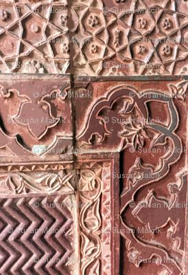 Crazy Quilt of Carved Sandstone Walls
