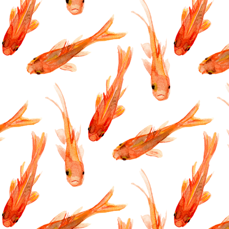 Goldfish fabric by jillbyers on Spoonflower - custom fabric
