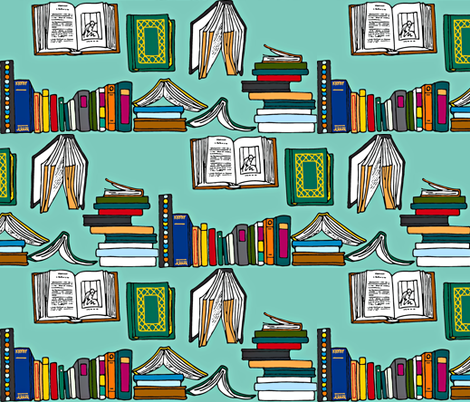 Books Abound fabric by ramonaghods on Spoonflower - custom fabric