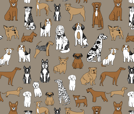 dogs // print dog illustration cute dog dog breed pet dog fabric fabric by andrea_lauren on Spoonflower - custom fabric