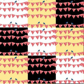 Bluebirds and Bunting patchwork