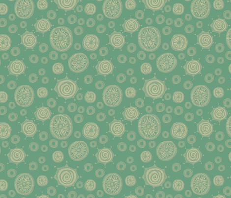 Ladybug Just the Dots in Green fabric by joonmoon on Spoonflower - custom fabric