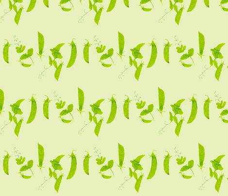 peas on green fabric by sew_oiseau on Spoonflower - custom fabric