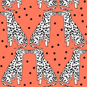 dalmatian // bright dog design cute dog pattern illustration