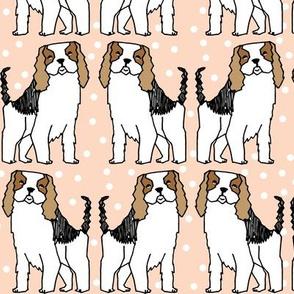dog // spaniel dog breed blush cute dots girly pastel dogs pattern