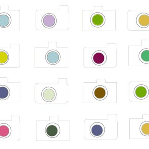 Camera colors-white canvas