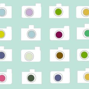 Camera colors-white sea glass