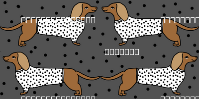 dachshund // doxie sausage dog cute dots cute dog pet dog breed fabric