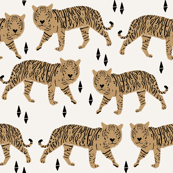 Tigers - Off-white/Lion Brown by Andrea Lauren