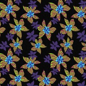 Wild Flower- Black and Purple Zebra