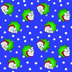 Christmas KiniArt Westies SMALL