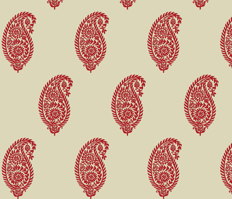 paisley-khaki-gnd-33pctsmaller fabric by anne_weinbrenner on Spoonflower - custom fabric