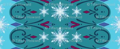 Coronation Inspired Vertical Stripe Snowflakes