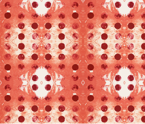 GalaxyDots_RED fabric by tawnythreads on Spoonflower - custom fabric