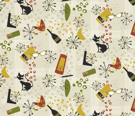 After hours at the library fabric by bippidiiboppidii on Spoonflower - custom fabric