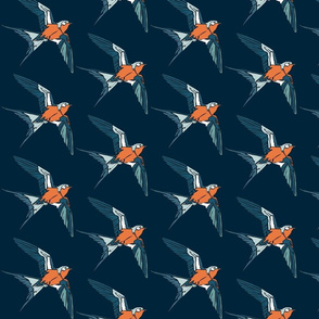 Swift - Navy/Tangerine