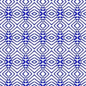 Tiny Tribal Sentries Blue White