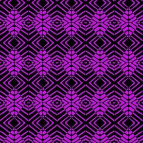 Zebras Purple Black