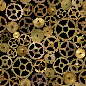Steampunk Gears on Black